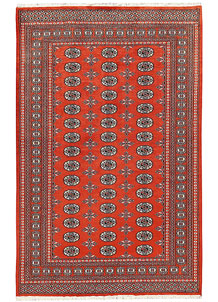 Orange Red Bokhara 5' 1 x 8' 1 - No. 60394