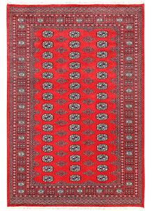 Red Bokhara 5' 6 x 8' 2 - No. 60407