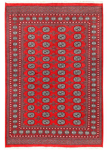 Red Bokhara 5' 6 x 8' 2 - No. 60433