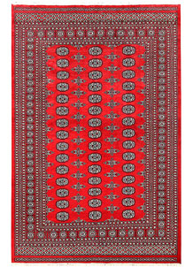 Red Bokhara 5' 7 x 9' - No. 60438