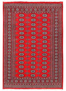 Red Bokhara 5' 6 x 8' - No. 60441