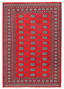 Red Bokhara 5' 9 x 8' 2 - No. 60451