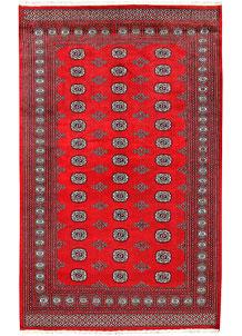 Red Bokhara 5' 7 x 9' - No. 60481