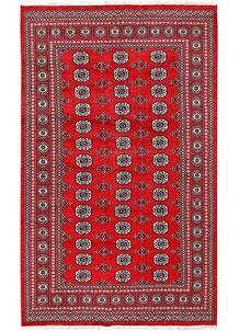 Red Bokhara 5' 7 x 8' 5 - No. 60484