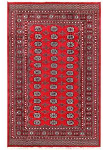 Red Bokhara 5' 7 x 8' 9 - No. 60490