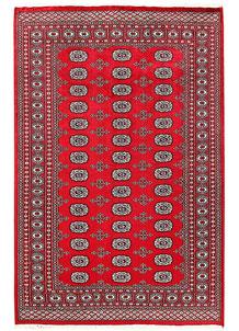 Red Bokhara 5' 6 x 8' 4 - No. 60551