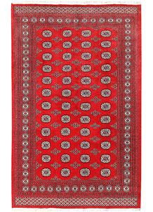 Firebrick Bokhara 5' 5 x 8' 6 - No. 60575