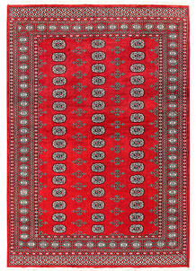 Red Bokhara 5' 6 x 7' 10 - No. 60581