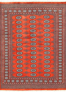 Orange Red Bokhara 5' 8 x 7' 3 - No. 60614