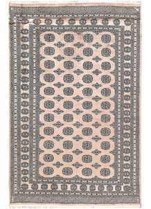 Antique White Bokhara 5' 9 x 8' 10 - No. 60650