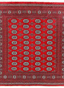 Red Bokhara 6' 6 x 6' 8 - No. 60790