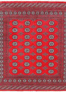 Red Bokhara 6' 6 x 7' 1 - No. 60794