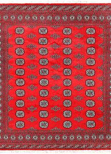Red Bokhara 6' 7 x 7' 1 - No. 60795