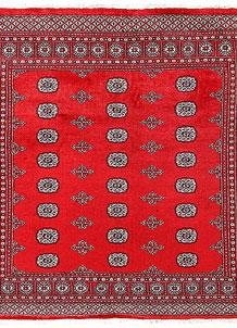Red Bokhara 6' 7 x 6' 6 - No. 60796