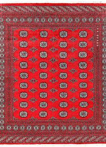 Red Bokhara 6' 7 x 7' 3 - No. 60798