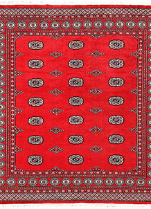 Red Bokhara 6' 8 x 7' 1 - No. 60799