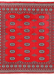 Red Bokhara 6' 7 x 6' 10 - No. 60804