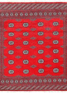 Red Bokhara 6' 8 x 6' 10 - No. 60805