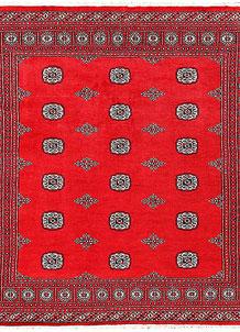 Red Bokhara 6' 8 x 6' 11 - No. 60806