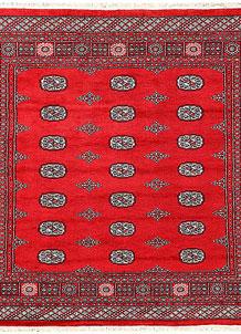Red Bokhara 6' 9 x 6' 7 - No. 60807
