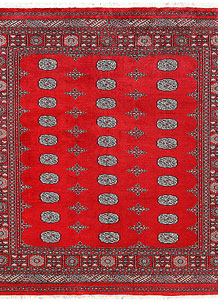 Red Bokhara 6' 7 x 7' 1 - No. 60808