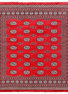 Red Bokhara 6' 11 x 6' 11 - No. 60811