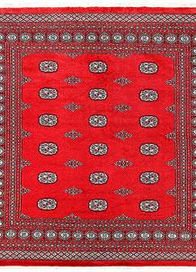 Red Bokhara 6' 10 x 7' - No. 60813