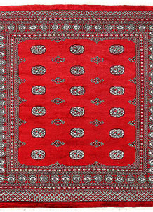 Red Bokhara 6' 11 x 7' 2 - No. 60817