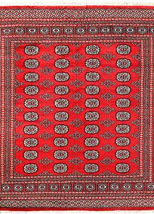 Red Bokhara 6' 8 x 6' 4 - No. 60819