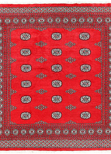 Red Bokhara 6' 9 x 6' 11 - No. 60822