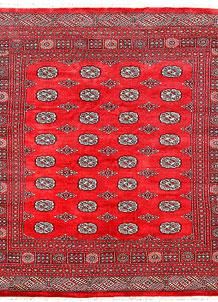 Red Bokhara 6' 8 x 7' - No. 60823