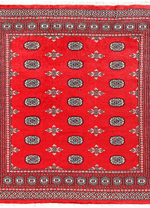 Red Bokhara 6' 8 x 6' 10 - No. 60824