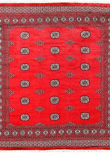 Red Bokhara 6' 9 x 7' 3 - No. 60825