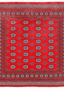 Red Bokhara 6' 8 x 6' 10 - No. 60826