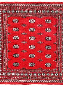 Red Bokhara 6' 9 x 6' 10 - No. 60827