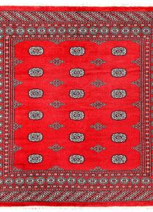 Red Bokhara 6' 8 x 6' 10 - No. 60829
