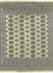 Olivedrab Bokhara 6' 7 x 6' 8 - No. 60850