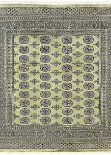 Olivedrab Bokhara 6' 6 x 6' 10 - No. 60854