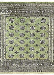 Dark Olive Green Bokhara 6' 6 x 6' 5 - No. 60857