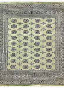 Olivedrab Bokhara 6' 9 x 6' 10 - No. 60858