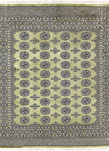 Olive Bokhara 6' 4 x 7' 2 - No. 60859