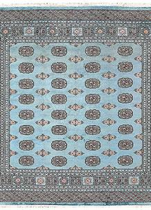 Sky Blue Bokhara 6' 8 x 6' 8 - No. 60866