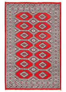 Red Jaldar 4' 2 x 6' 4 - No. 61001