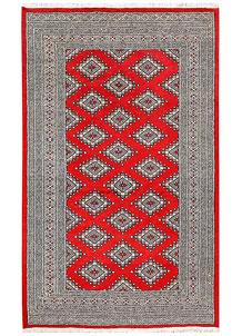 Red Jaldar 4' 1 x 6' 7 - No. 61008