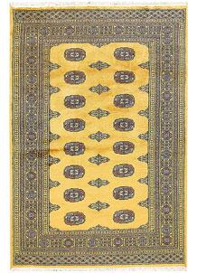 Gold Bokhara 4' 2 x 6' 2 - No. 61041