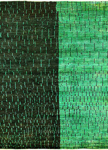 Green Gabbeh 7' 10 x 10' 1 - No. 61176