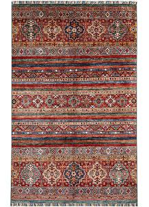 Multi Colored Kazak 4' x 6' 2 - No. 61440