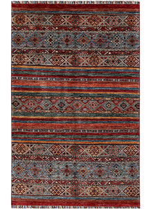 Multi Colored Kazak 4' 1 x 6' 5 - No. 61441