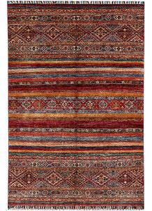 Multi Colored Kazak 4' 1 x 6' - No. 61442