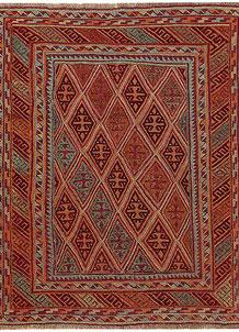 Multi Colored Mashwani 4' 10 x 5' 10 - No. 61881